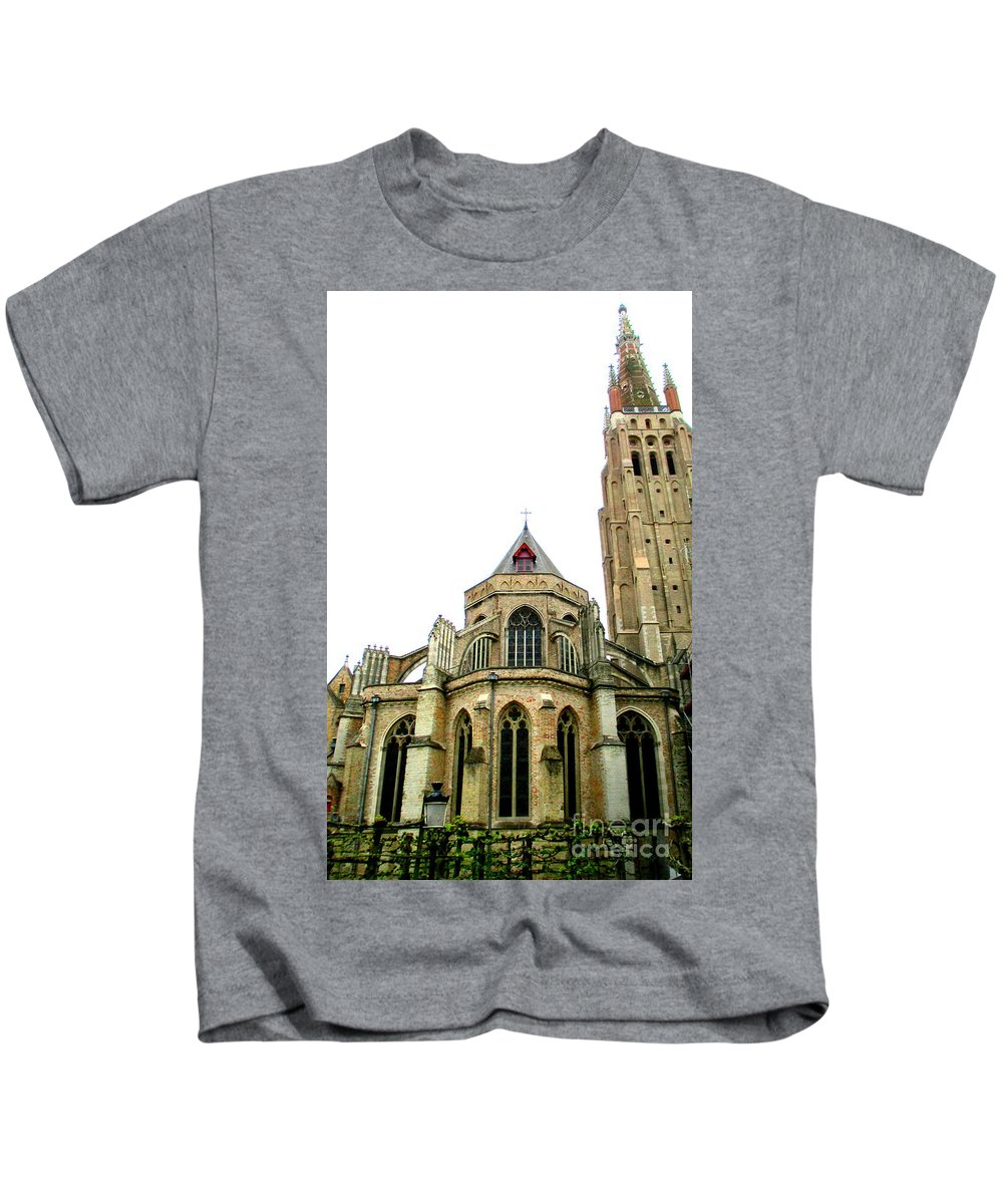 Bruges Kids T-Shirt featuring the photograph Bruges 16 by Randall Weidner