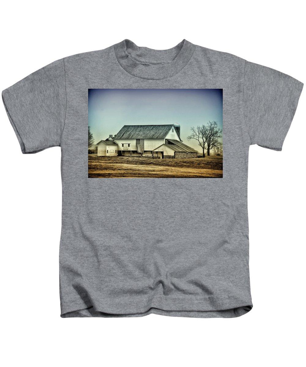 Bucks County Kids T-Shirt featuring the photograph Bucks County Farm by Bill Cannon