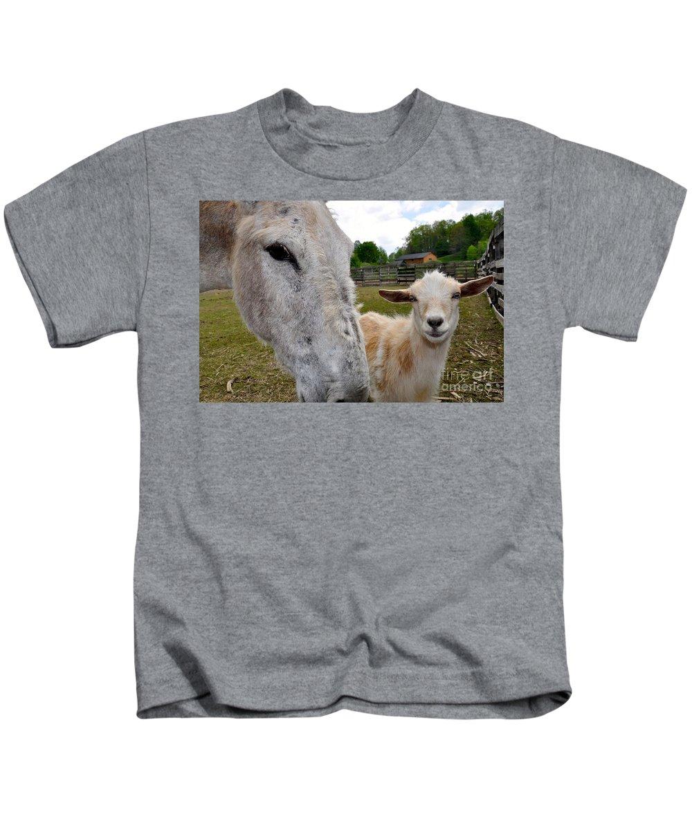 Goat Kids T-Shirt featuring the photograph Buddies by Christina McKinney