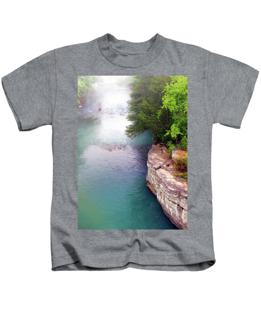 Ozarks Kids T-Shirt featuring the photograph Buffalo River Mist by Marty Koch