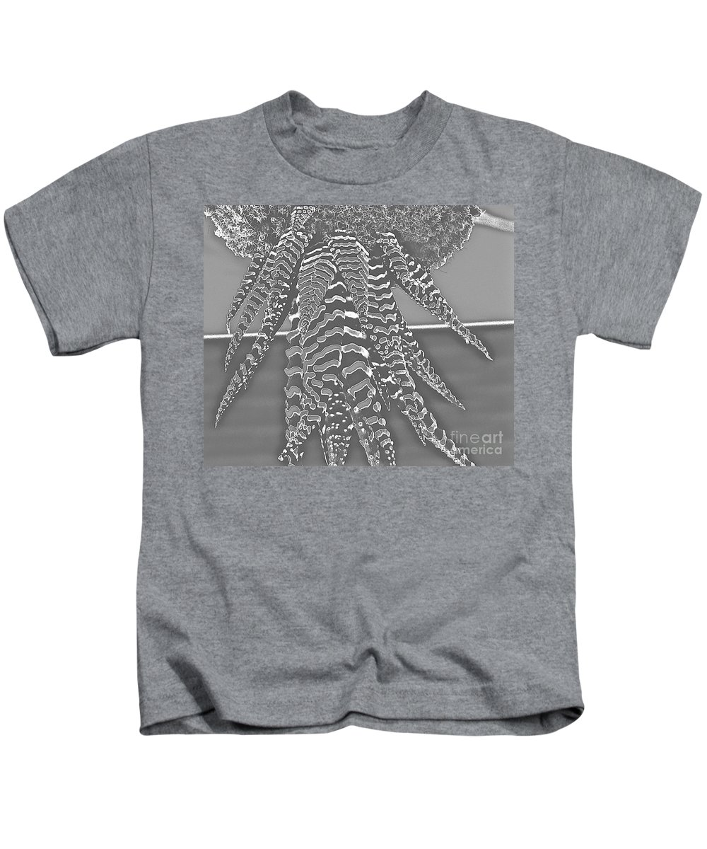 Plant Kids T-Shirt featuring the photograph Bugle Chips Eaten In The Dark by Jacqueline Howe