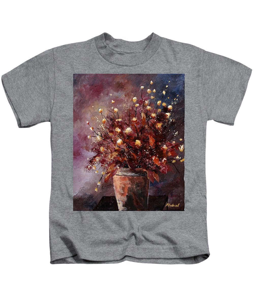 Poppies Kids T-Shirt featuring the painting Bunch 56 by Pol Ledent