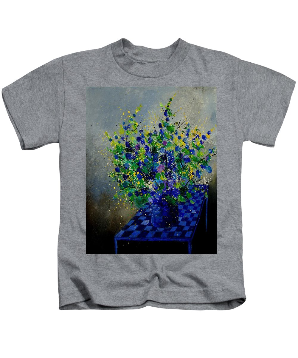 Flowers Kids T-Shirt featuring the painting Bunch 9020 by Pol Ledent