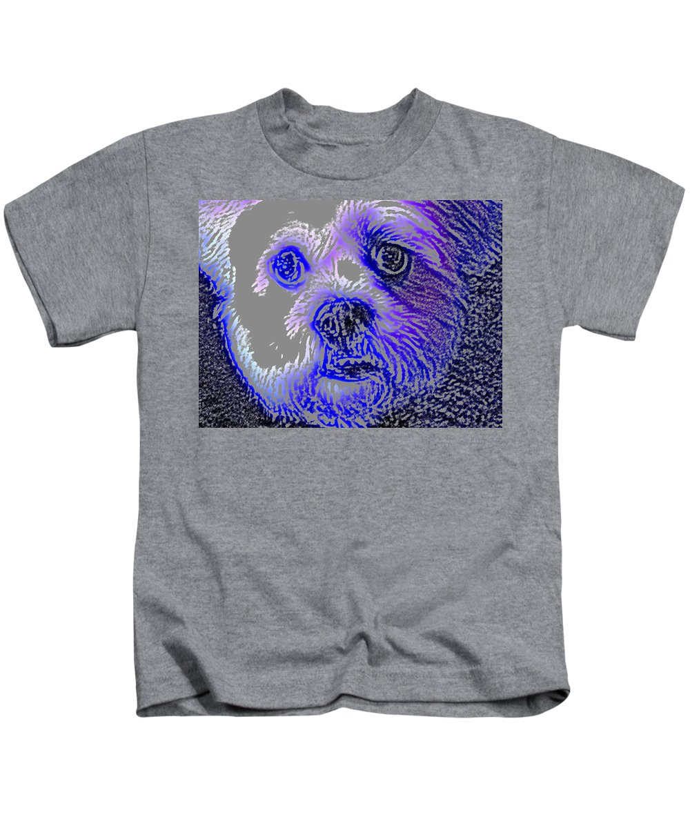 Dog Kids T-Shirt featuring the photograph Buster Photo by Wayne Potrafka