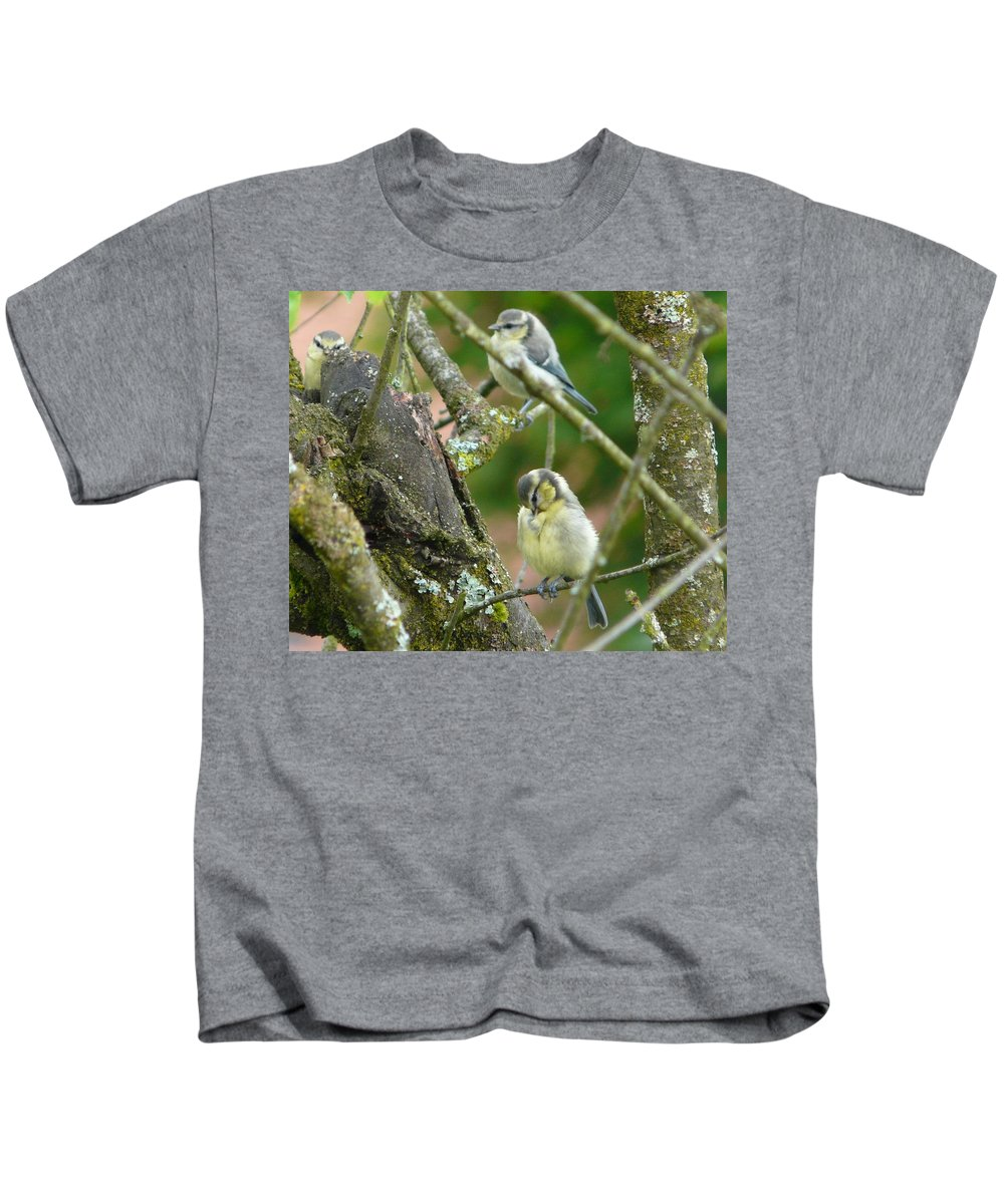 Bird Kids T-Shirt featuring the photograph Busy Tree by Valerie Ornstein