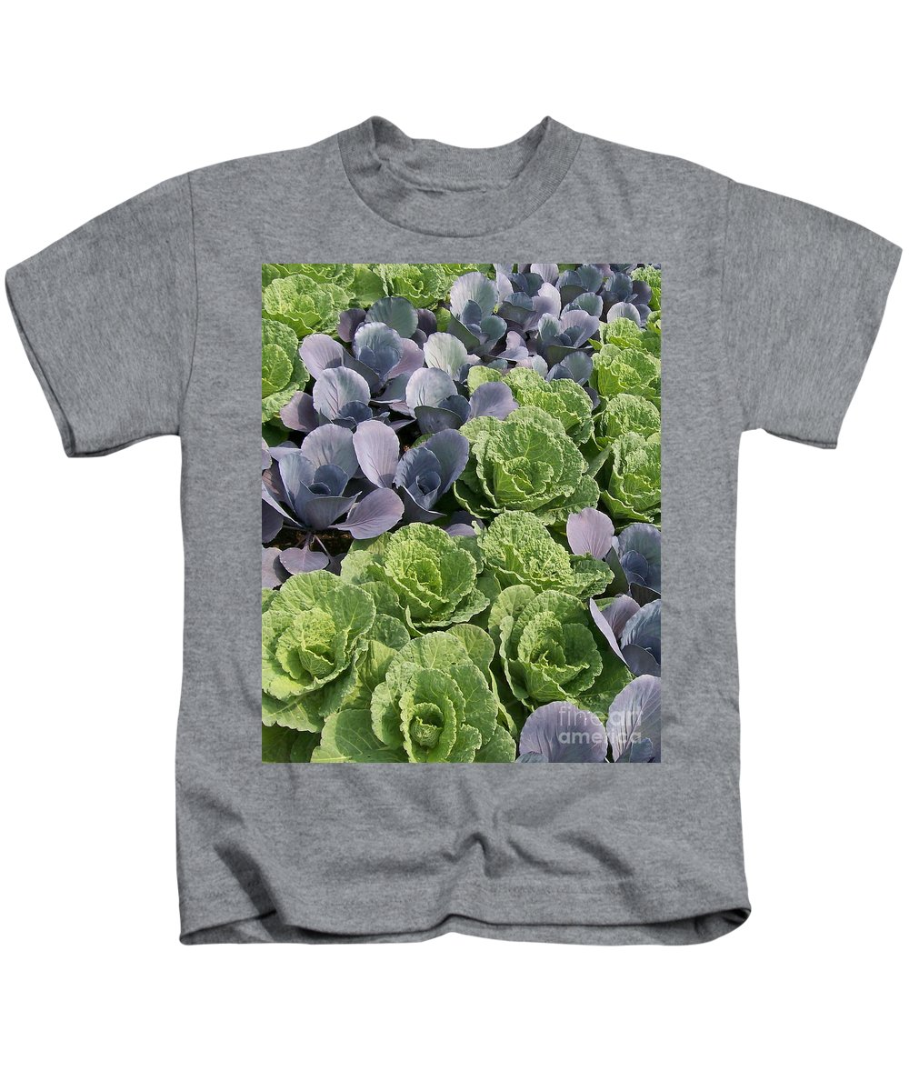 Ornamental Kids T-Shirt featuring the photograph Cabbage Patch by Laurie Eve Loftin
