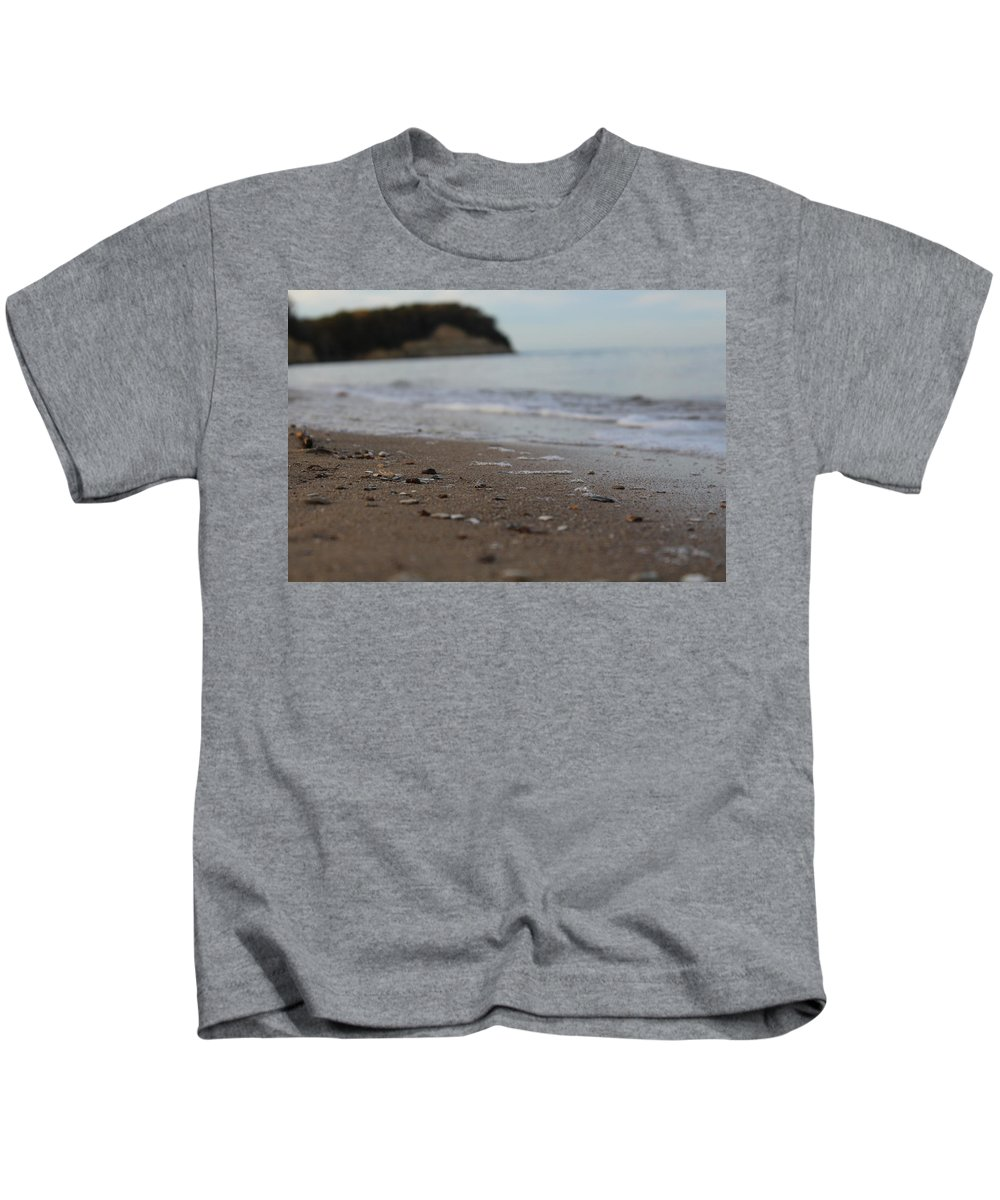 Sand Kids T-Shirt featuring the photograph Calm Beach Sand by Hunter Kotlinski