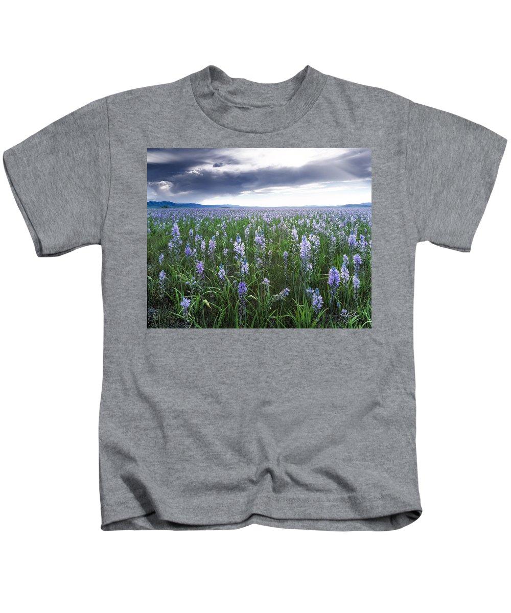Beautiful Kids T-Shirt featuring the photograph Camas Marsh 2 by Leland D Howard