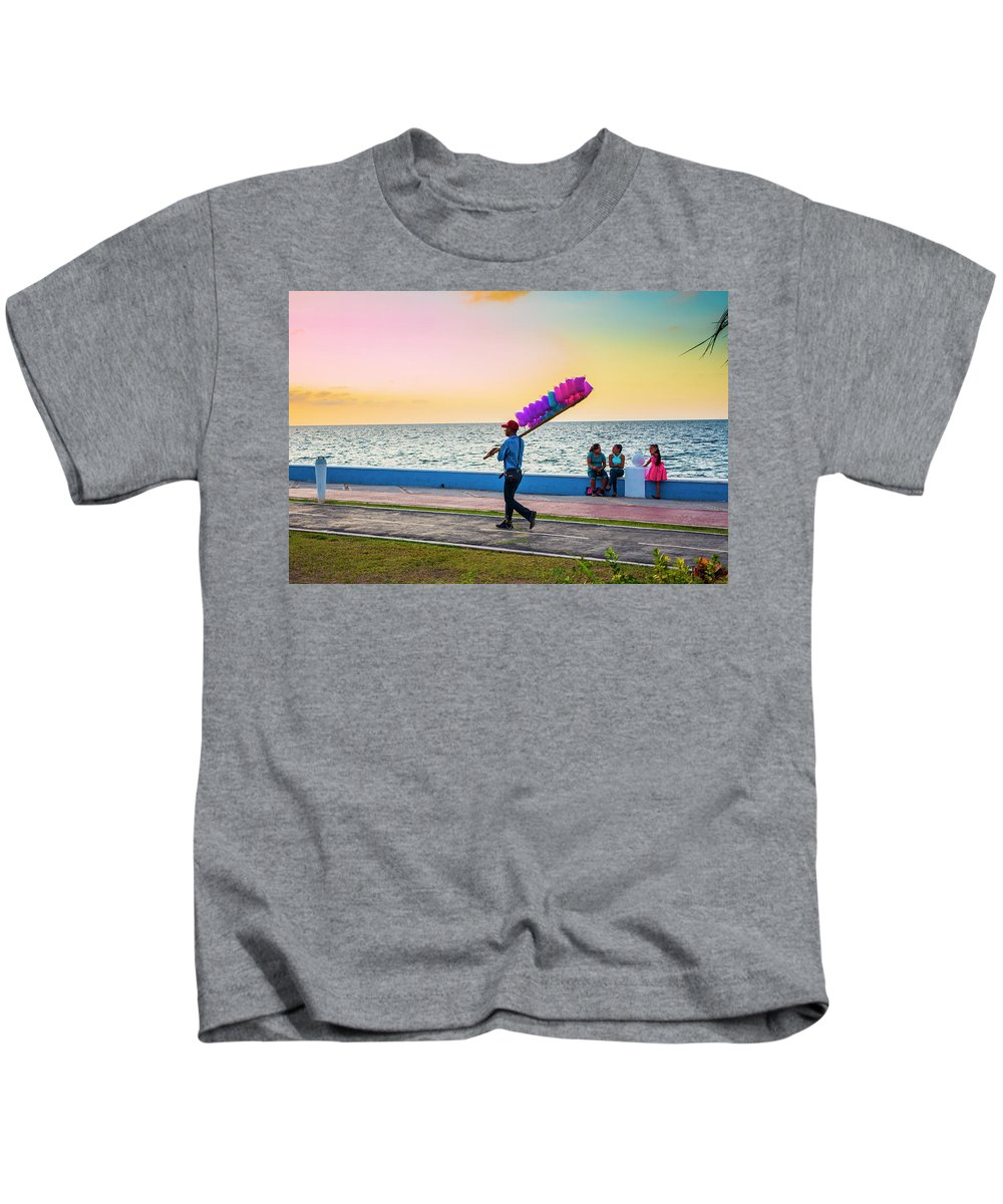 Mexico Kids T-Shirt featuring the photograph Campeche Colors by Pablo Aura