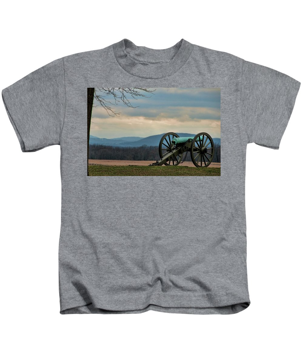 Cannon Kids T-Shirt featuring the photograph Cannon by David Arment
