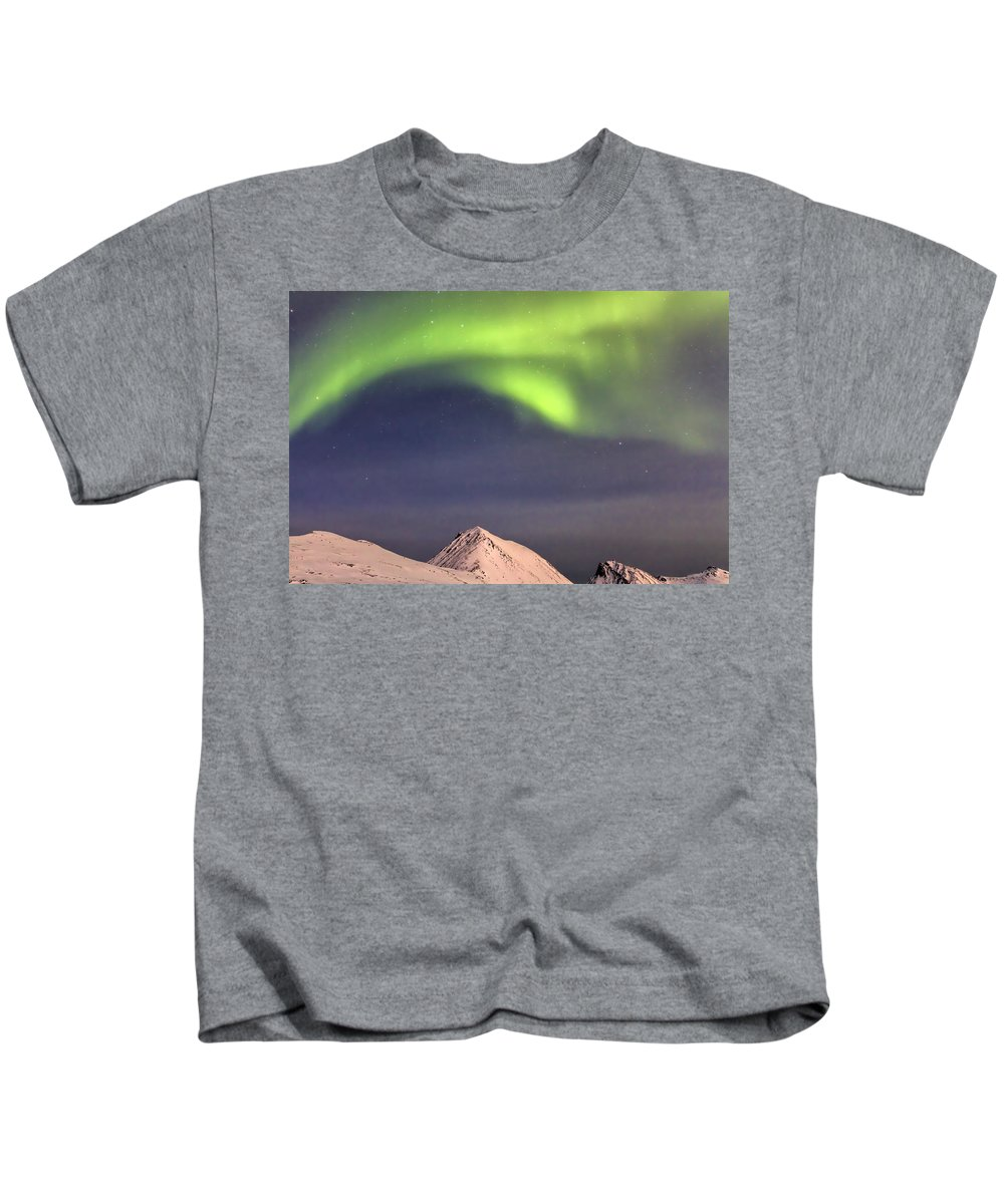 Norway Kids T-Shirt featuring the photograph Canopy Of Lights 8285 by Karen Celella
