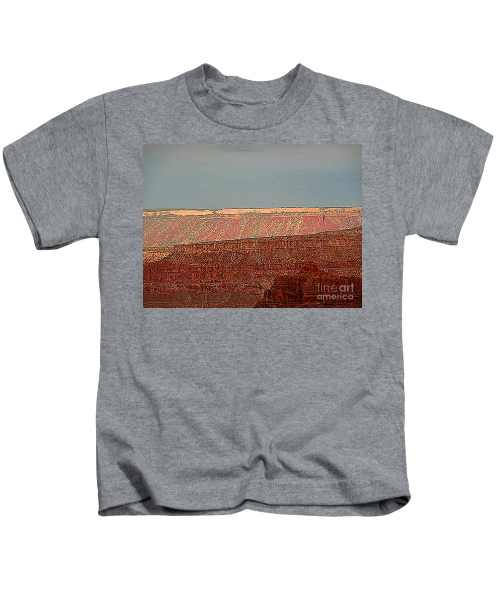 Grand Canyon Kids T-Shirt featuring the photograph Canyon Rims by Angela L Walker