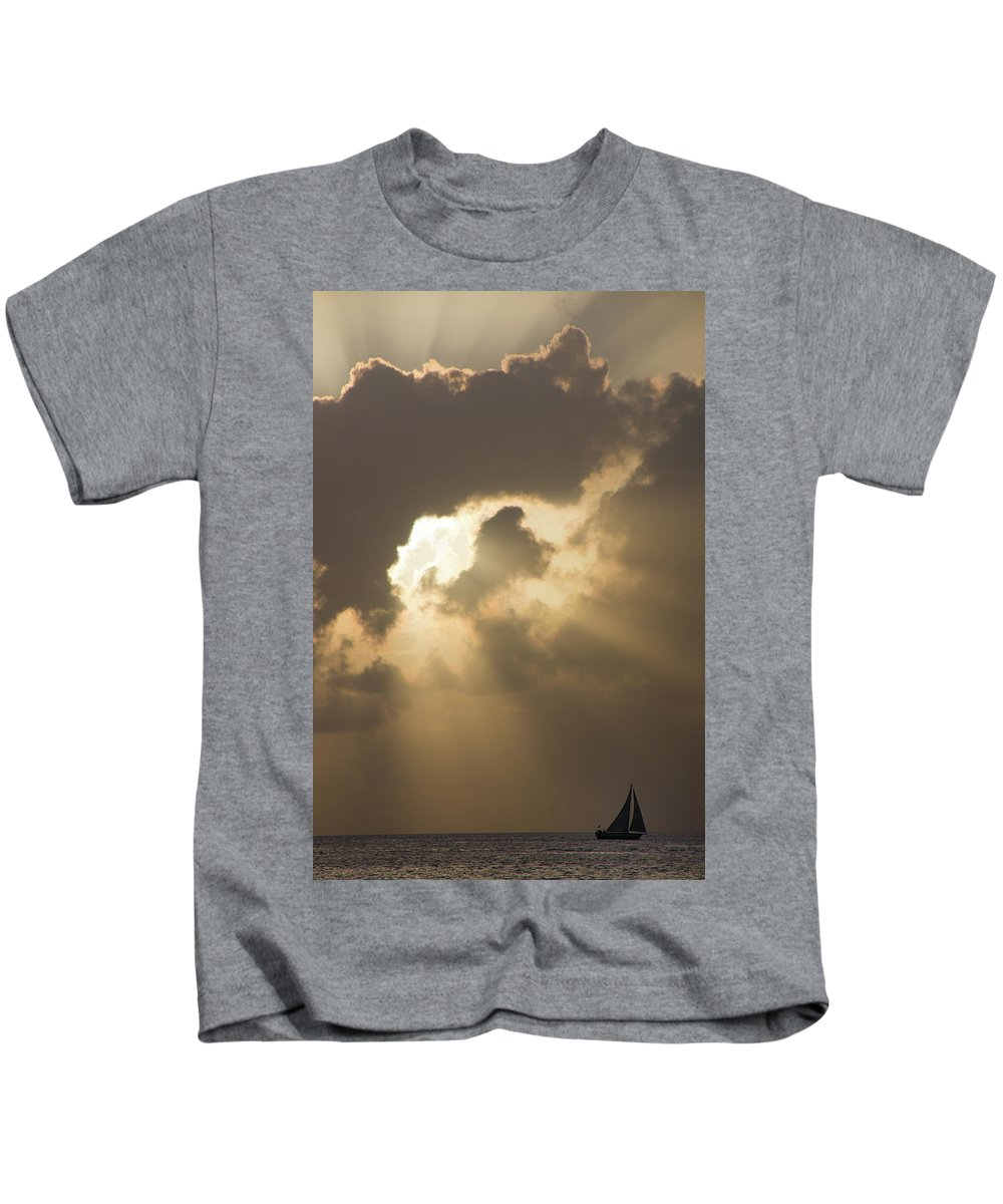 America Kids T-Shirt featuring the photograph Caribbean Skies And Light 2 by Riccardo Forte