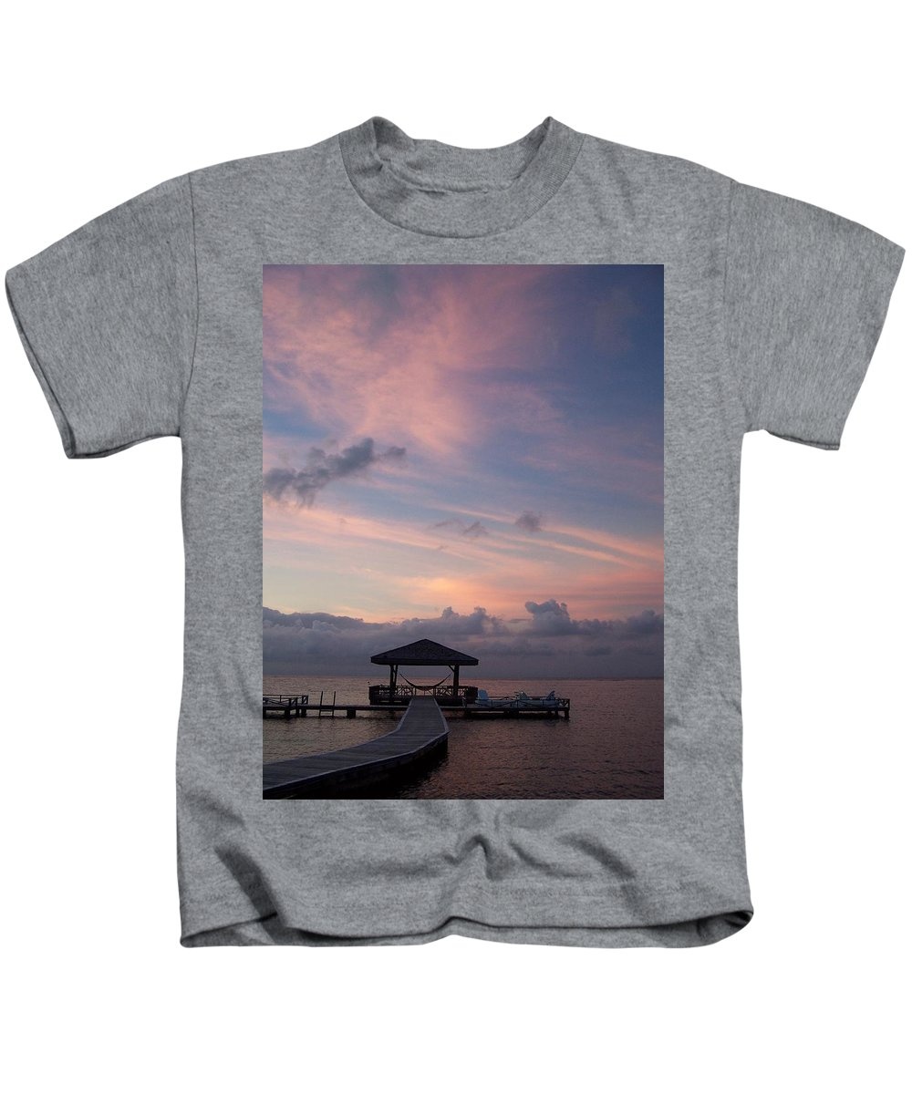 Ocean Kids T-Shirt featuring the photograph Caribbean Sunrise by Gale Cochran-Smith