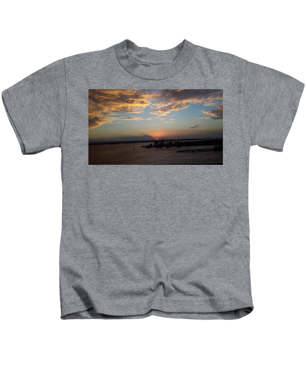 St Thomas Kids T-Shirt featuring the photograph Caribbean Sunset by Joe D Dry