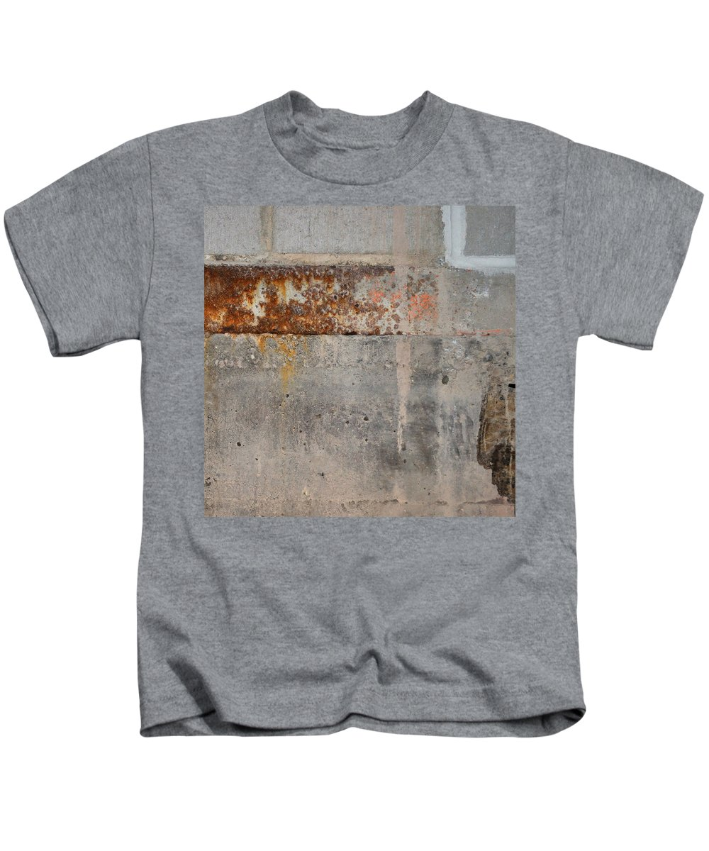 Concrete Kids T-Shirt featuring the photograph Carlton 16 Concrete Mortar And Rust by Tim Nyberg