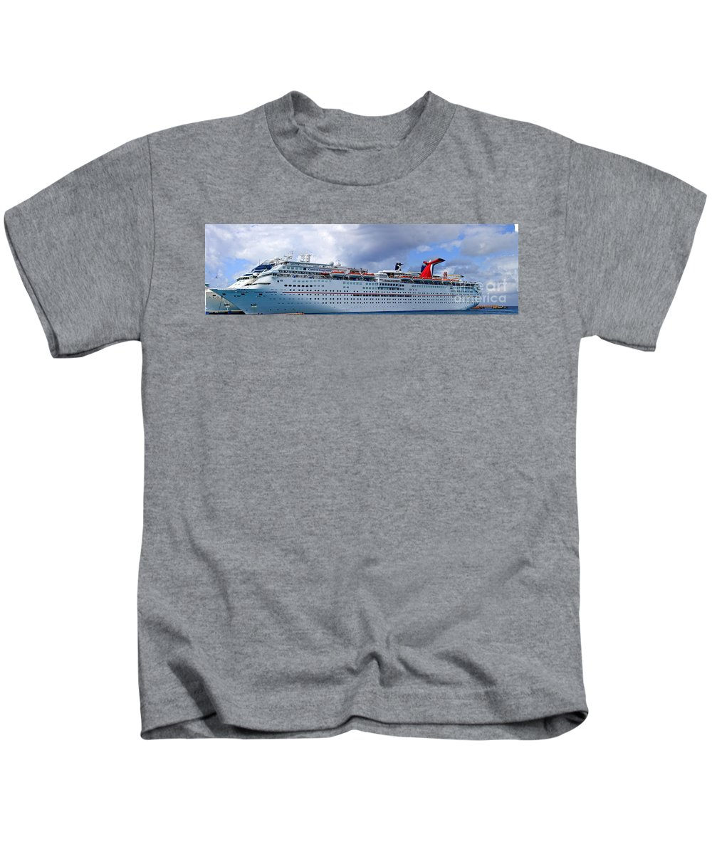 Carnival Kids T-Shirt featuring the photograph Carnival Cruise Ship by Thomas Marchessault