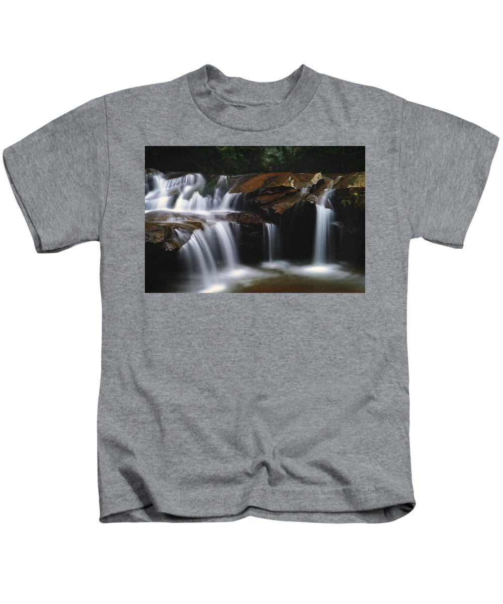 Waterfall Kids T-Shirt featuring the photograph Cascading Dilution by Lj Lambert