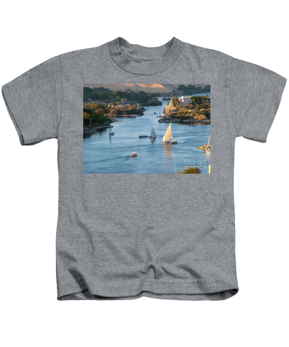 Cataracts Of The Nile Kids T-Shirt featuring the photograph Cataracts Of The Nile by Sheila Laurens