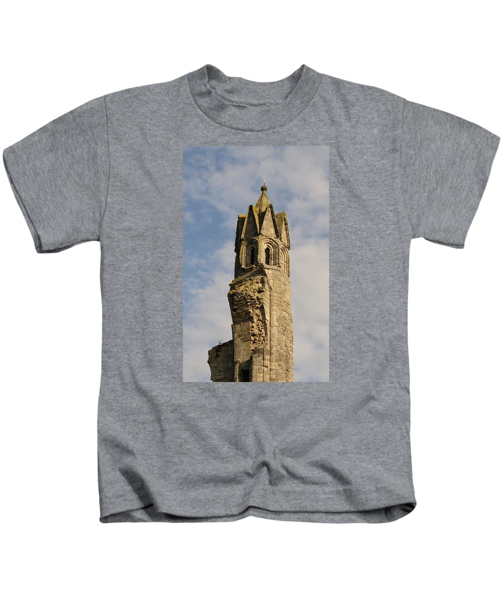 Cathedral Kids T-Shirt featuring the photograph Cathedral Tower by Adrian Wale