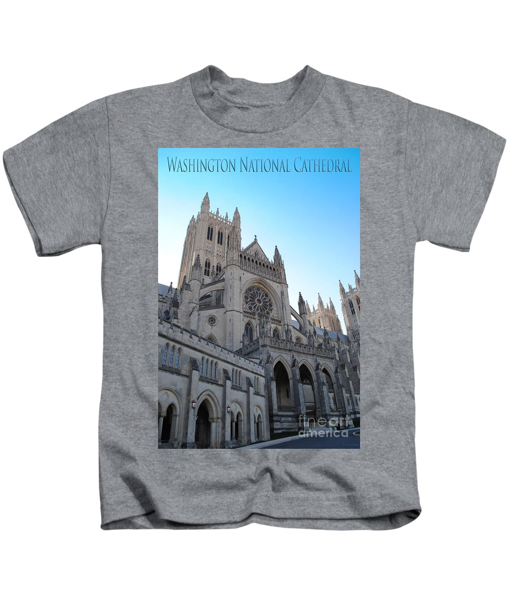 Washington Kids T-Shirt featuring the photograph Cathedral Travel by Jost Houk