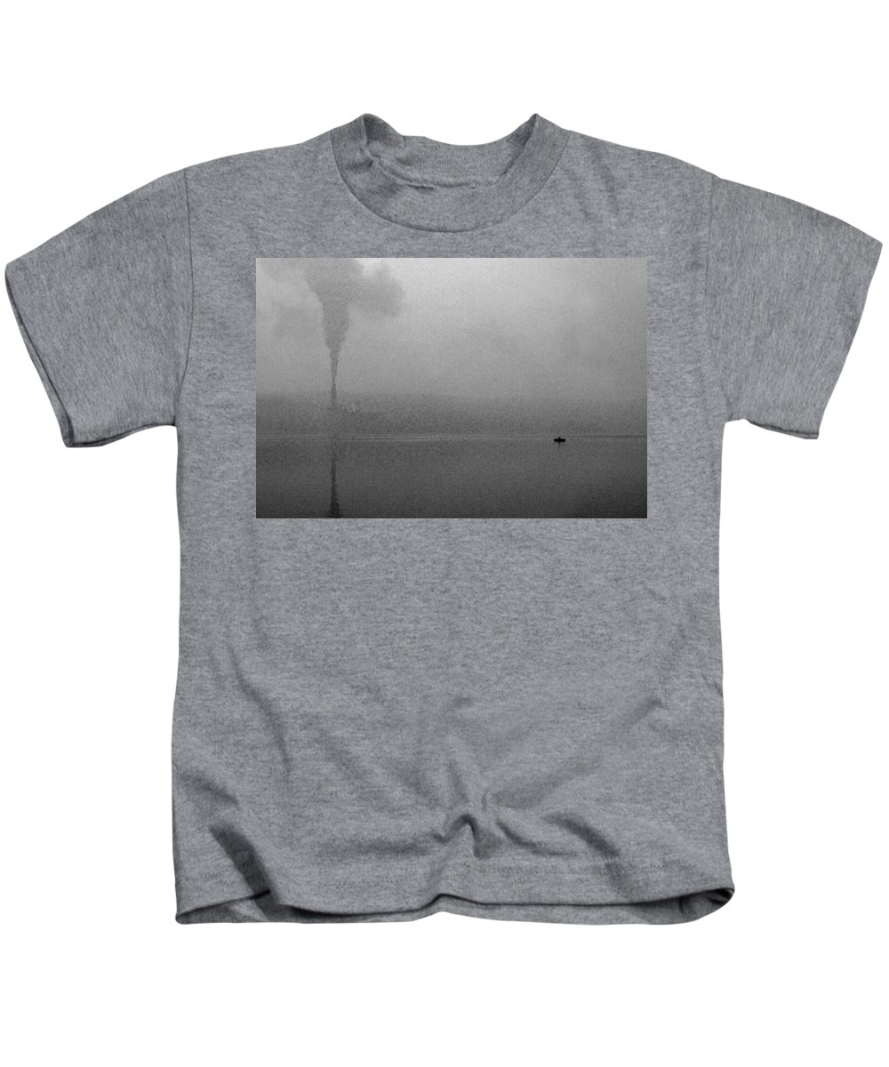 Solitude Kids T-Shirt featuring the photograph Cayuga Solitude by Jean Macaluso