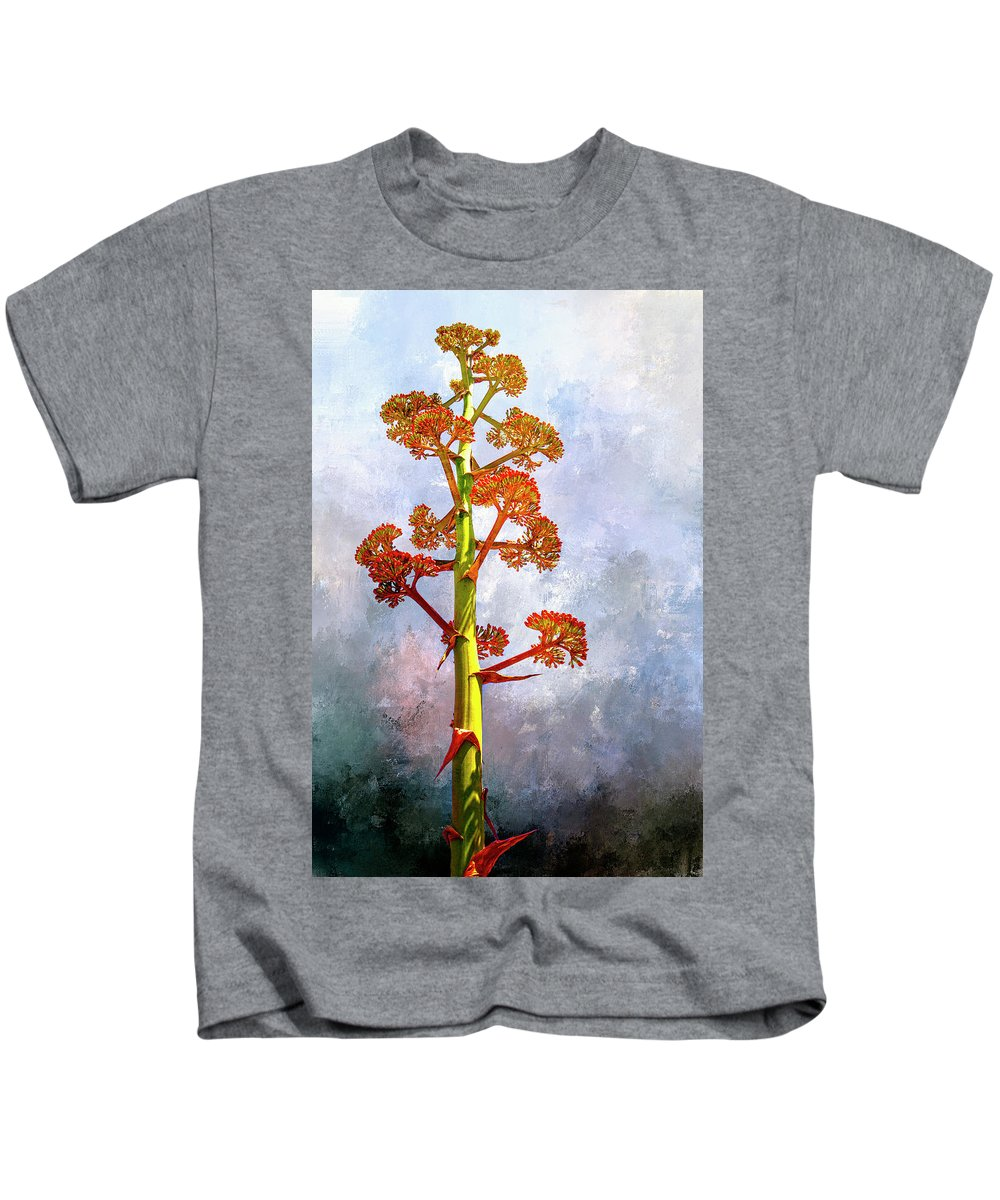 Century Plant Kids T-Shirt featuring the digital art Century Plant by Casey Heisler