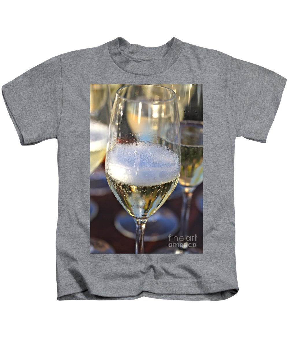 Champagne Kids T-Shirt featuring the photograph Champagne Celebration by Nadine Rippelmeyer