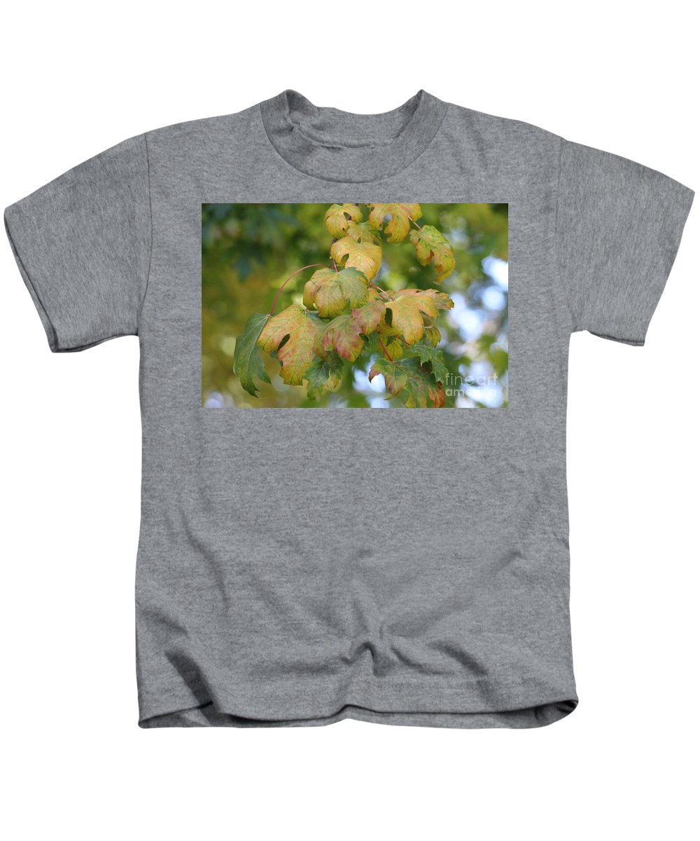 Autumn Kids T-Shirt featuring the photograph Changing Colors by LKB Art and Photography
