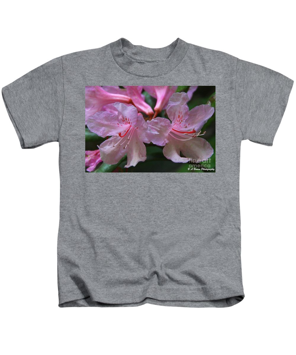 Chapmans Rhododendron Kids T-Shirt featuring the photograph Chapmans Rhododendron by Barbara Bowen