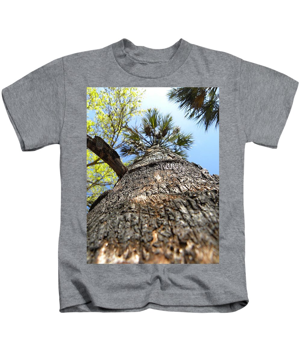 Landscape Photography Kids T-Shirt featuring the photograph Charred Palm Tree 000 by Chris Mercer