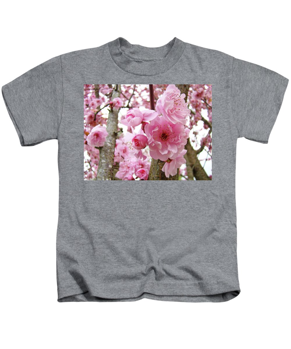 Nature Kids T-Shirt featuring the photograph Cherry Blossoms Art Prints 12 Cherry Tree Blossoms Artwork Nature Art Spring by Baslee Troutman