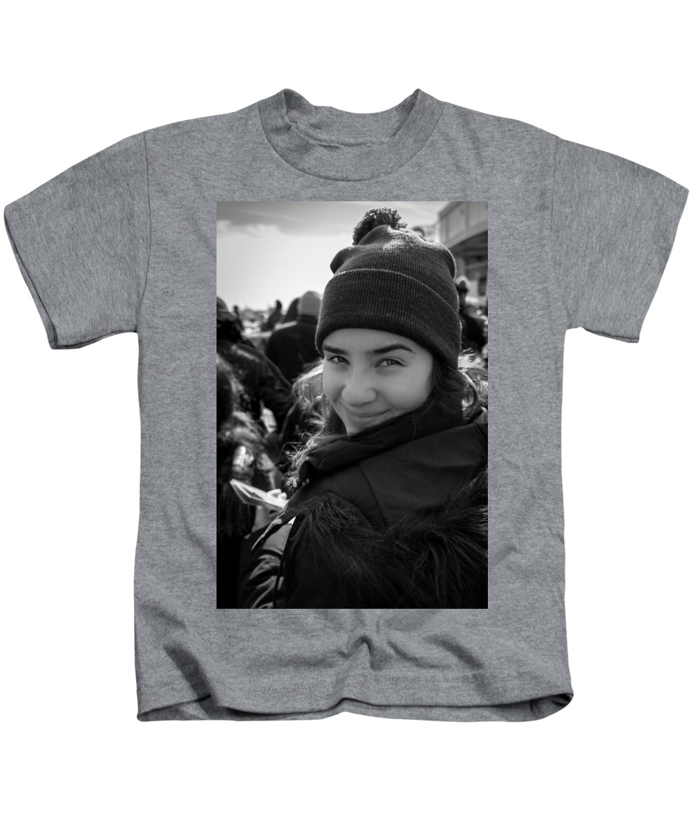 Portrait Kids T-Shirt featuring the photograph Chessy Smile by Luis Feairn