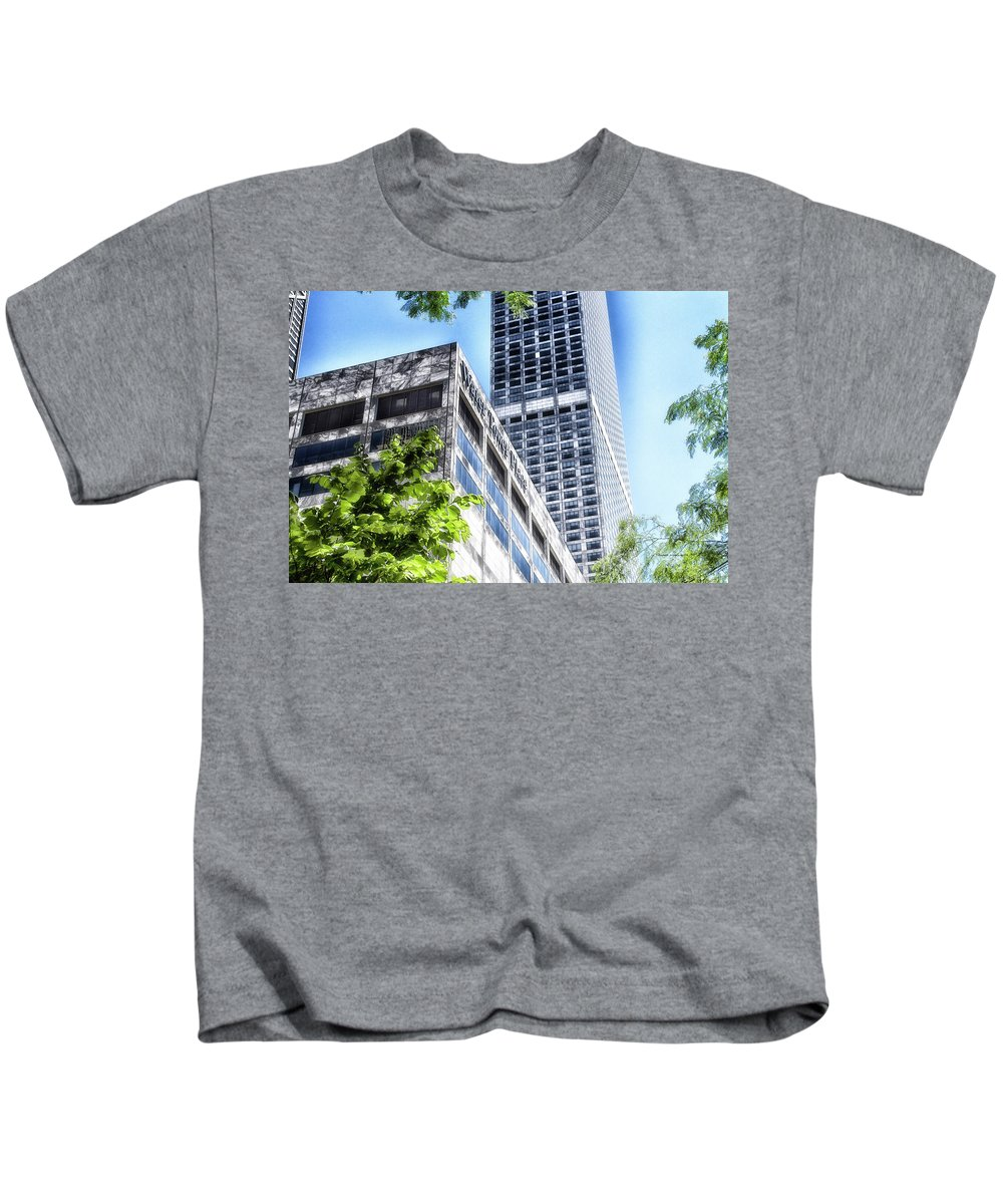 Chicago Kids T-Shirt featuring the photograph Chicago Water Tower Place Facade And Signage by Thomas Woolworth