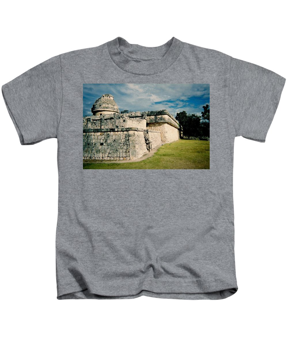 Chitchen Itza Kids T-Shirt featuring the photograph Chichen Itza 1 by Anita Burgermeister
