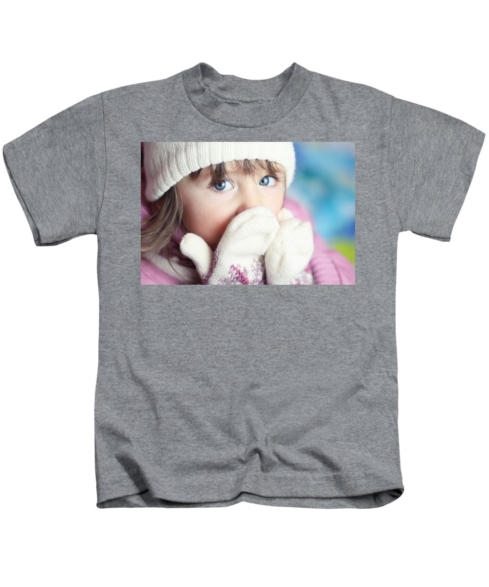 Child Kids T-Shirt featuring the digital art Child by Dorothy Binder