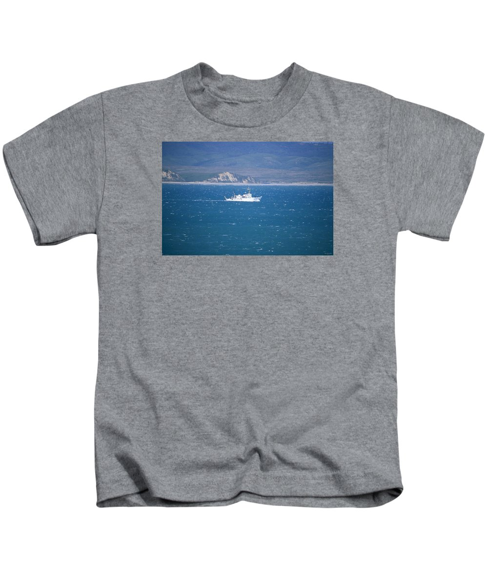 Noaa Ship Kids T-Shirt featuring the photograph Choppy Drake's Bay by Soli Deo Gloria Wilderness And Wildlife Photography