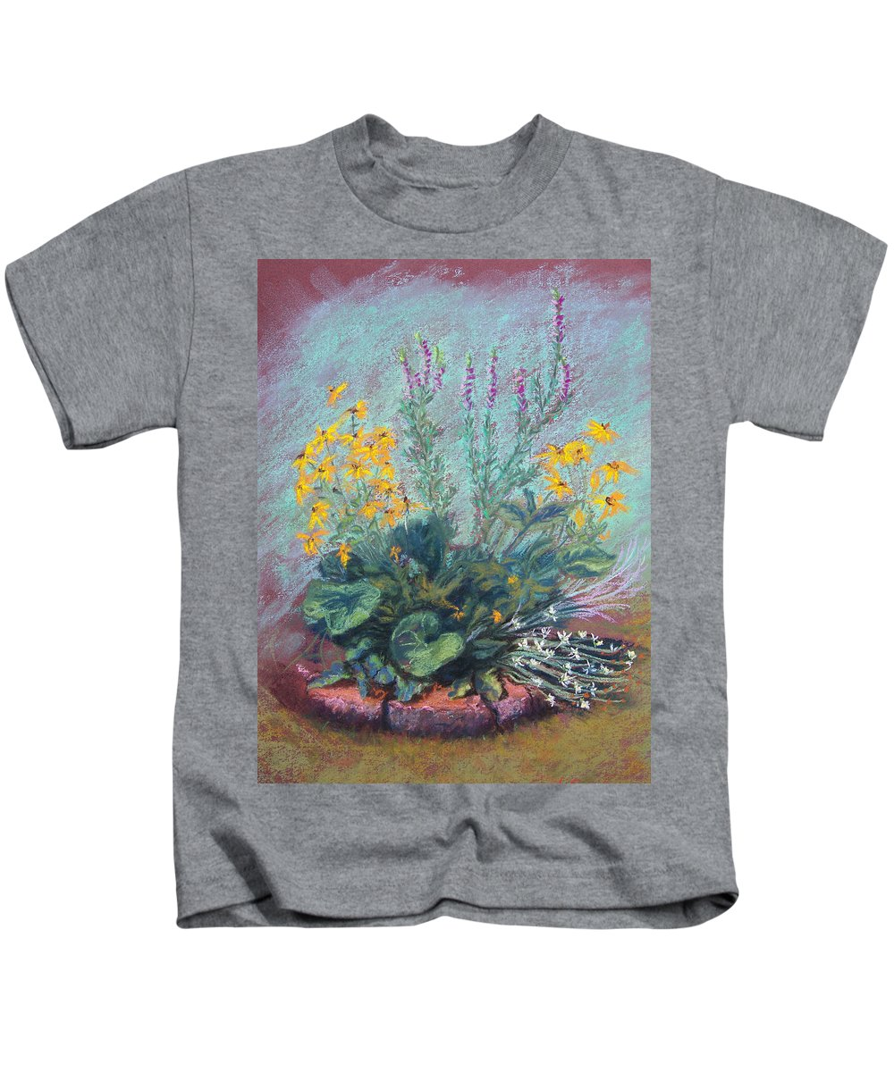 Flowers Kids T-Shirt featuring the painting Christina's Garden by Laurie Paci