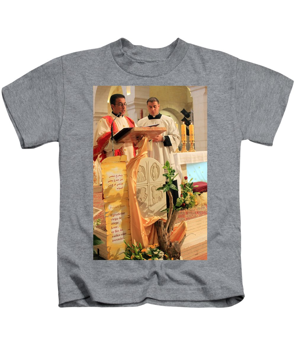 Christmas Kids T-Shirt featuring the photograph Christmas Mass by Munir Alawi