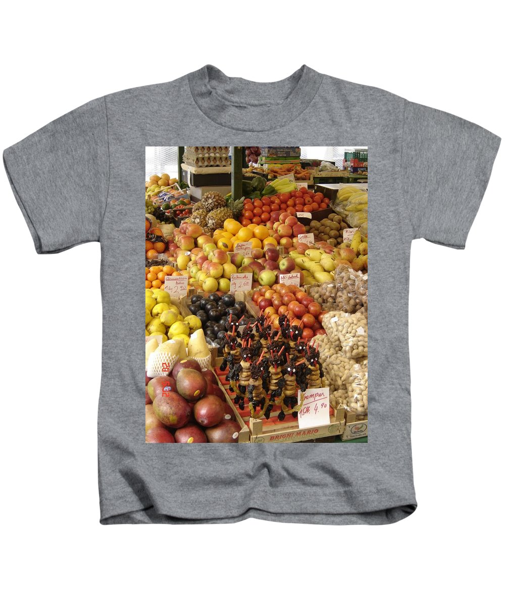 Food Kids T-Shirt featuring the photograph Christmas Treasures by Mary Rogers