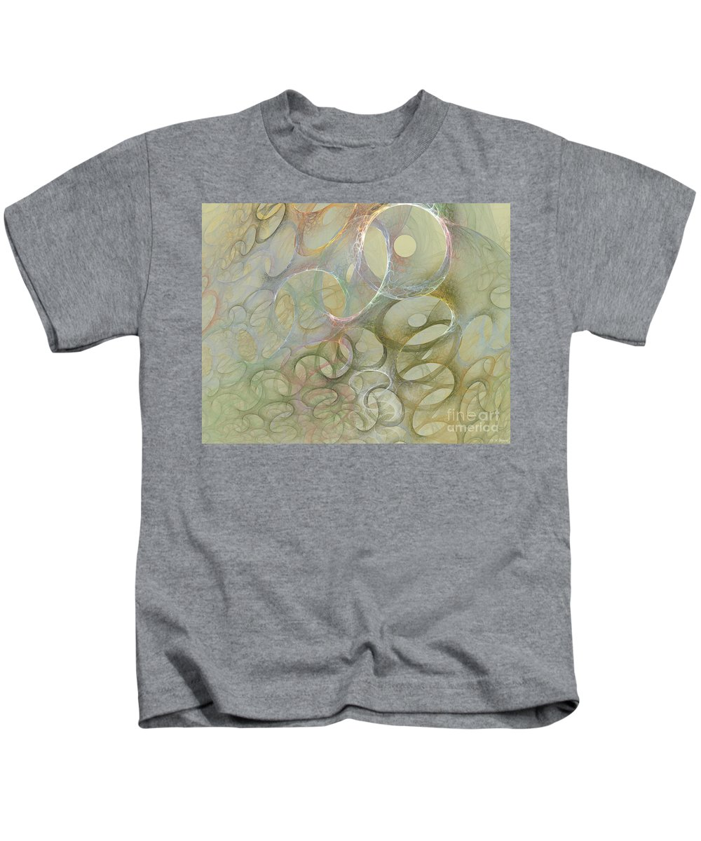 Fractal Kids T-Shirt featuring the digital art Circles In Circles by Deborah Benoit