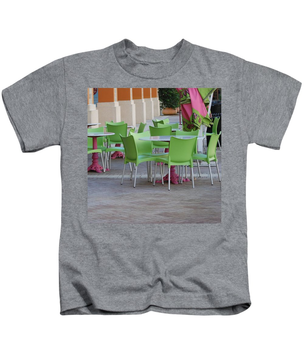 Chairs Kids T-Shirt featuring the photograph City Place Seats by Rob Hans