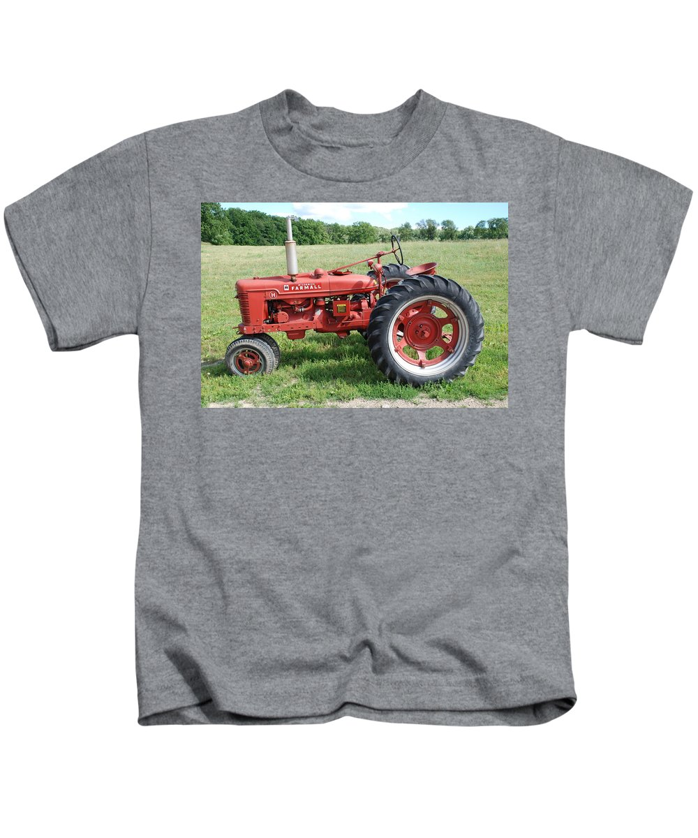 Farm Kids T-Shirt featuring the photograph Classic Tractor by Richard Bryce and Family