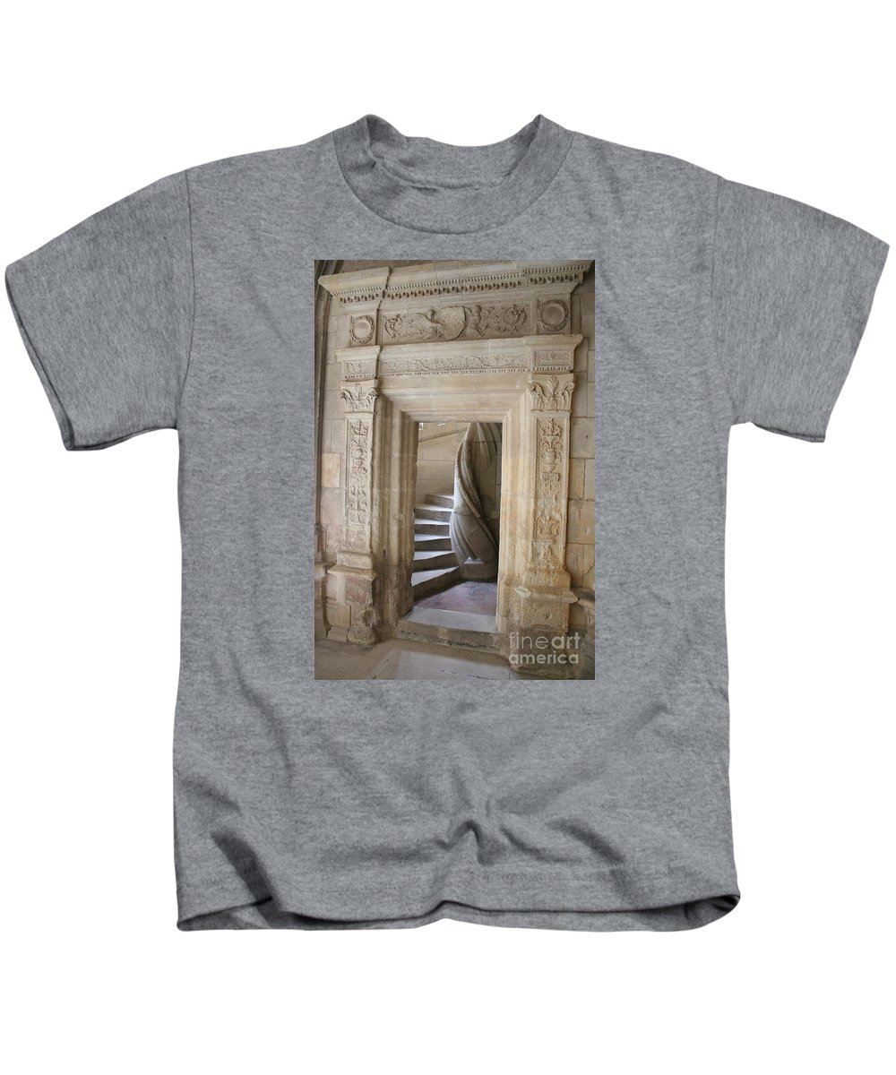 Cloister Kids T-Shirt featuring the photograph Cloister Stairway by Christiane Schulze Art And Photography
