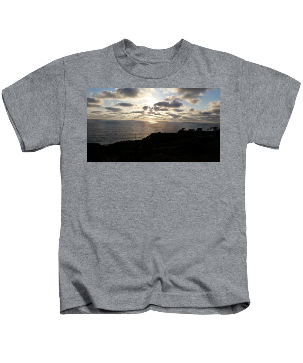 Torrey Pines Kids T-Shirt featuring the photograph Cloud Break Sunset At State Natural Reserve In San Diego by Heather Kirk