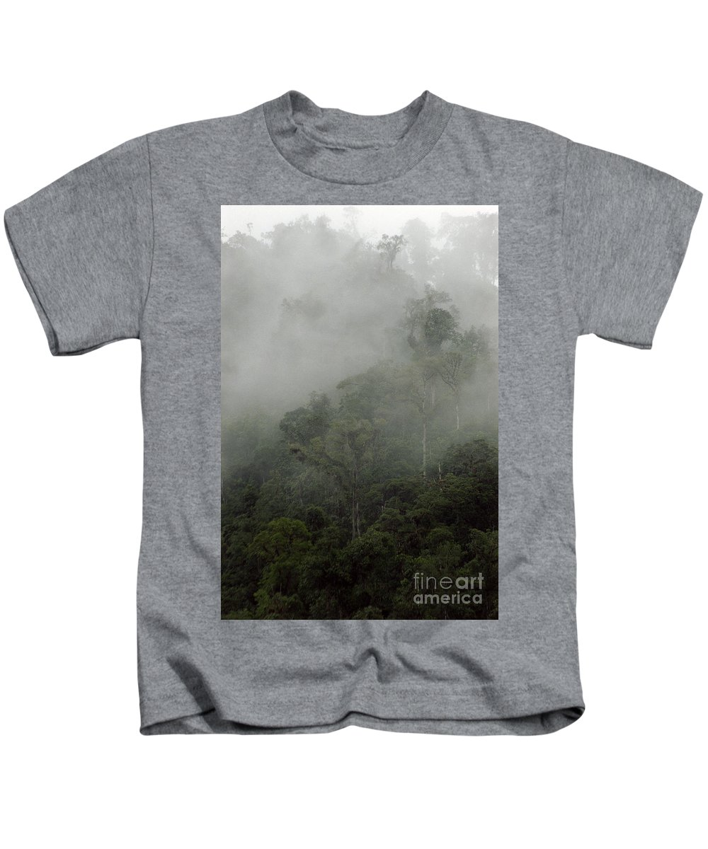 Rainforest Kids T-Shirt featuring the photograph Cloud Forest by Kathy McClure