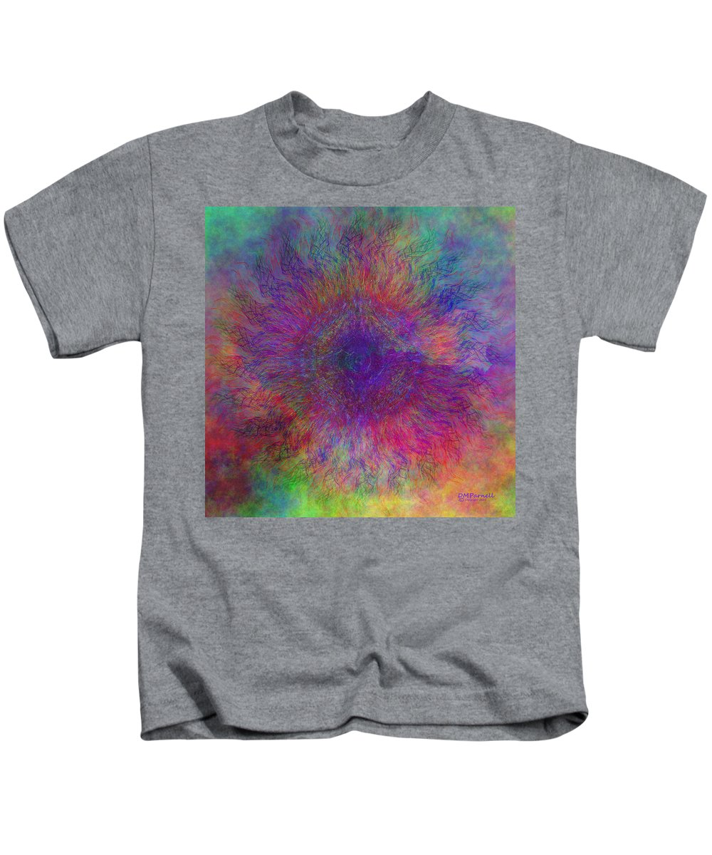 Cloud Kids T-Shirt featuring the digital art Cloud Mandala by Diane Parnell