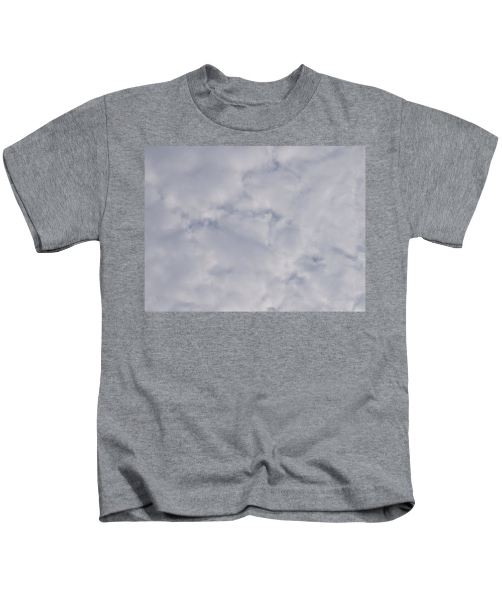 Clouds Kids T-Shirt featuring the photograph Cloud Mass - Fist Holding Arrowhead - Look Closely by Deborah Crew-Johnson