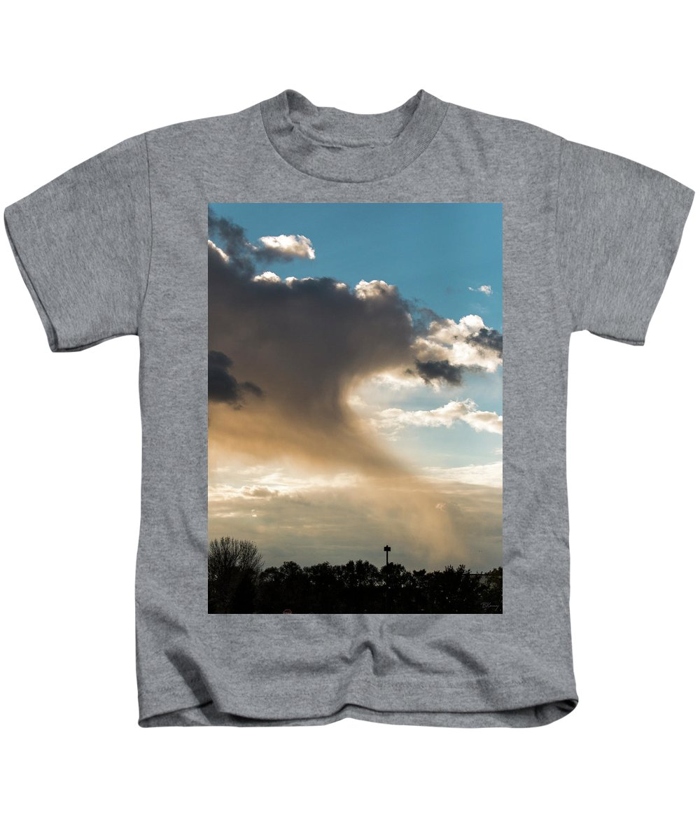 Cloud Kids T-Shirt featuring the photograph Cloud Tail by Brian Kenney