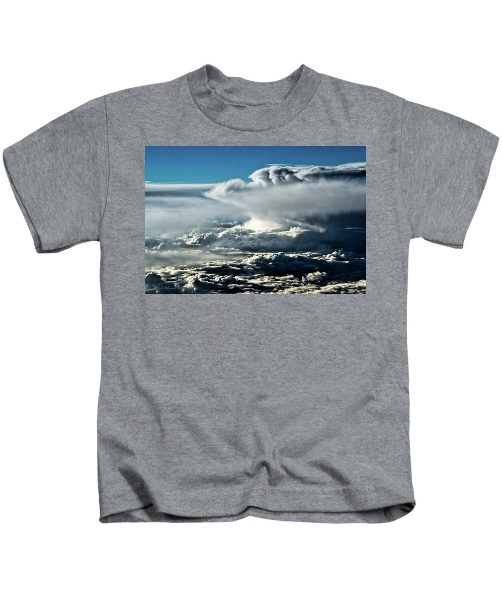 Clouds Kids T-Shirt featuring the photograph Clouds by Christopher Holmes